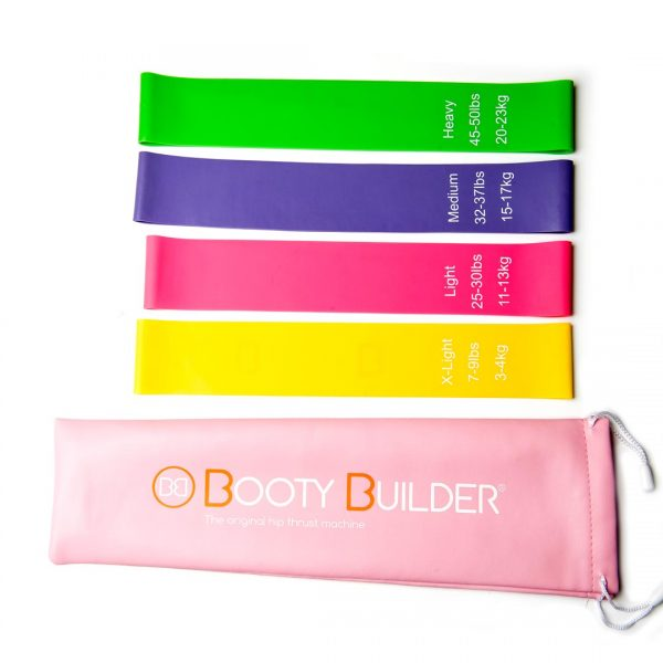 Booty Builder Mini Bands 4-pack with sleeve
